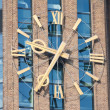Stock Photo: Enormous clock of tower in netherlands