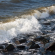Breaking wave at the coast of the Netherlands — Stock Photo