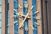 Enormous clock of a tower in the netherlands — Стоковое фото