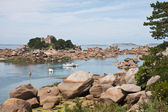 "Beautiful coast 'Granite Rose"" of Brittany in France — Stock Photo"