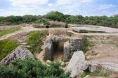 Vernietigde ww2 bunker op punt du hoc — Stockfoto