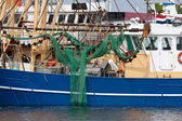 Dutch fishing cutters in the harbor — Stock Photo