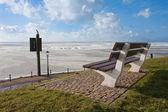 Kışın donmuş denizde hollandalı gezinti görüntülemek — Stok fotoğraf