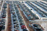 Car parking in wintertime — Stock Photo