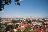 プラハ、チェコの首都の空撮 — ストック写真