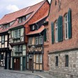 Cityview of medieval city Quedlinburg in Germany — Stock Photo