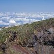 Stock Photo: Telescopes at highest peak of LPalma