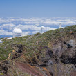 Royalty-Free Stock Photo: Telescopes at highest peak of La Palma
