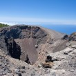 Crater of Hoya Negro, volcano at La Palma, Spain. - Stock Photo