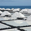 Salt extraction at La Palma, Canary Islands - Stock Photo