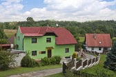 Rural landscape in Czech with farmhouse — Stock Photo