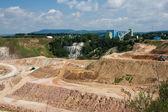 Magnesium open pit mine in Czech republic — Stock Photo