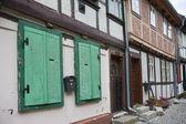 Eski alman ortaçağ şehrin streetview — Stok fotoğraf