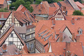 Aerial view at the German medieval city Quedlinburg — Stock Photo