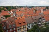 город средневекового города quedlinburg в германии — Стоковое фото