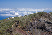 Telescopes at highest peak of La Palma — Stock Photo