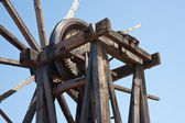 Old wooden windmill at La Palma, Canary Islands — Foto Stock