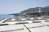 Salt extraction of the sea at La Palma, Spain — Stock Photo