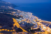 Cityscape by night of Santa Cruz, capital city of La Palma — Foto Stock