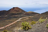 Road through volcanic landscape at La Palma — Stock Photo
