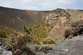 Volcano with big crater at La Palma, Spain — Stok fotoğraf