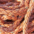 Nylon rope at a ship in the harbor — Stock Photo
