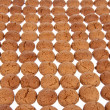 Background of ginger nuts, Dutch sweets for the celebration of S — Stock Photo