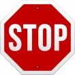 Stop Sign vector on white — Vector de stock