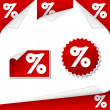Percentage labels — Stock Vector