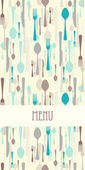 Restaurant menu with cutlery — Stock Vector