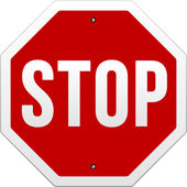 Stop Sign vector on white — Stock Vector