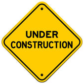 Under Construction Yellow Sign — Stock Vector