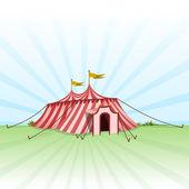Circus Entertainment Tent — Stock Vector