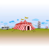 Amusement Park with Circus — Stock Vector