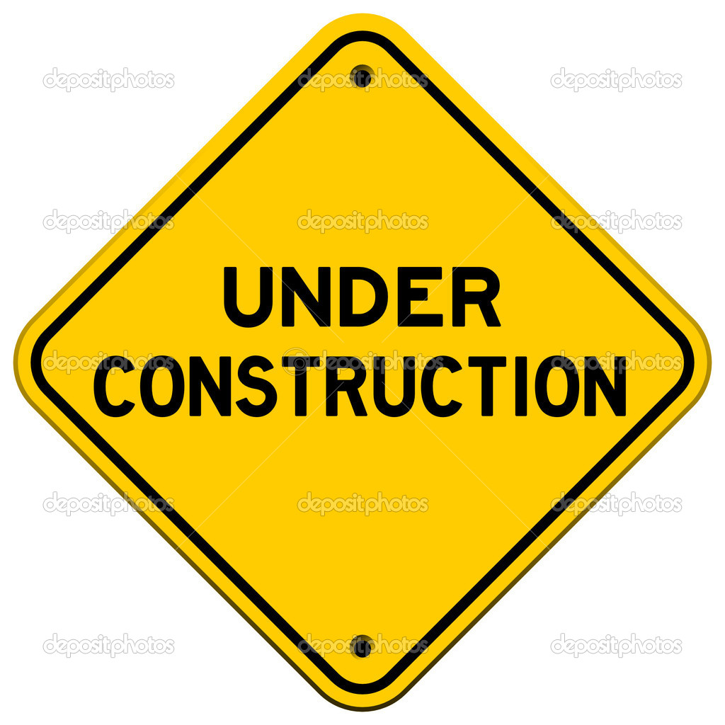 Under Construction Yellow Sign used in transportation — Stock Vector #7412419