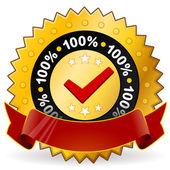 Satisfaction Warranty Label — Stock Vector