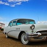 Classic car full of retro chrome — Stock Photo