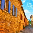 Village street in french Provence - Stock Photo