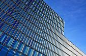 Modern mimarinin mavi tam — Stok fotoğraf