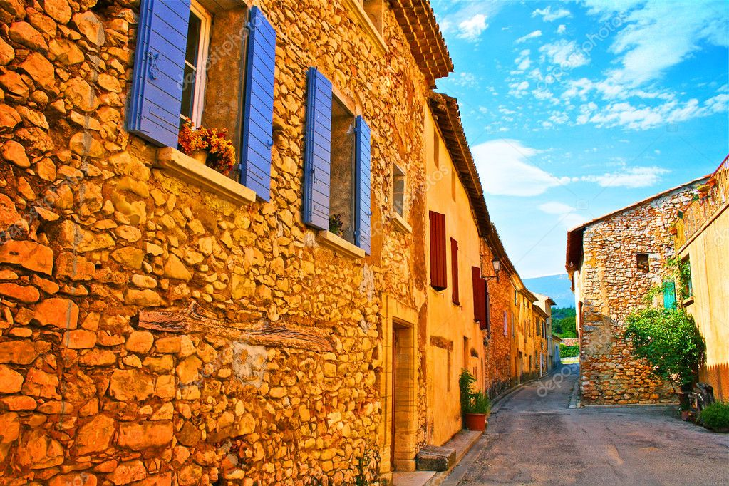 Ancient village street in south of France — Stock Photo #7920501