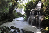Waterfall and milky river — Stock Photo
