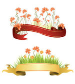 Banner with flower. — Stock Vector