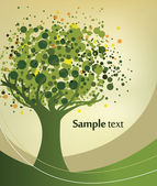 Abstract green tree illustration — Stock Vector