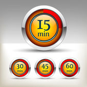 Timer icon set — Stock Vector