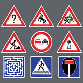 Funny road signs — Stock Vector