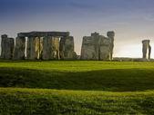 Stonehenge'de günbatımı — Stok fotoğraf