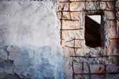 Architecture ancienne. fenêtre dans mur — Photo