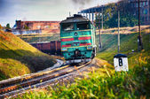 Goods train — Stock Photo