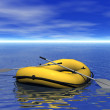 Inflatable boat — Stock Photo #7511930