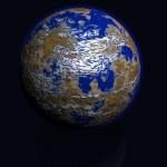 ilustracja ziemi — Zdjęcie stockowe